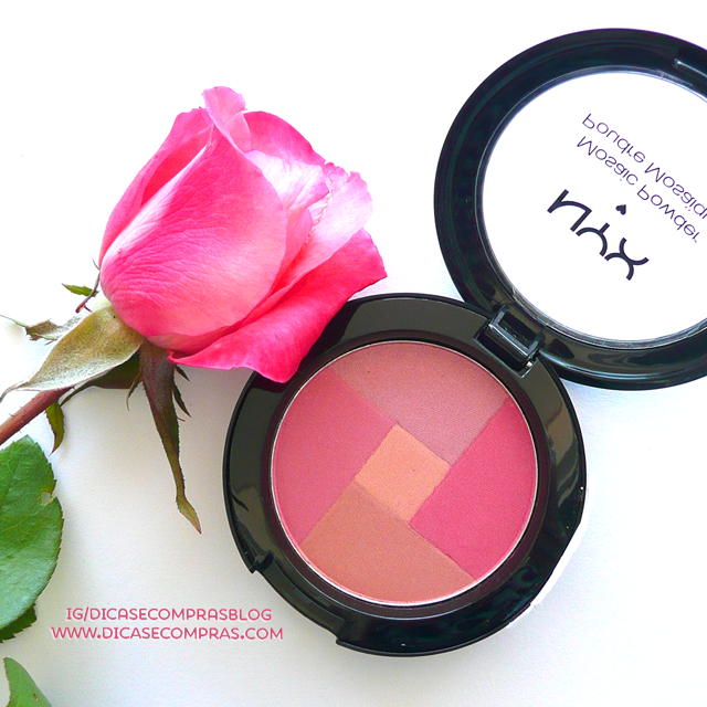 "Resenha e Swatches: NYX Mosaic Powder Blush ""Rosey"""