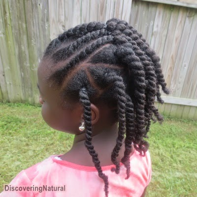 Triangle Flat Twists on Natural Hair |  African Naturalistas