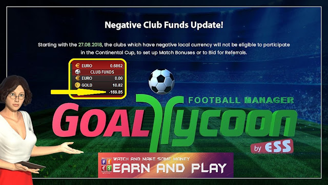 Negative Club Funds in GoalTycoon
