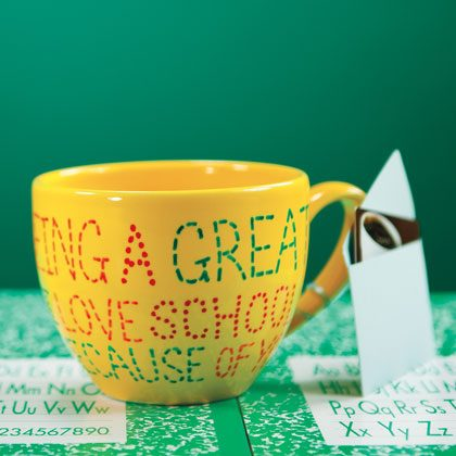 Painted Thank-You Mug