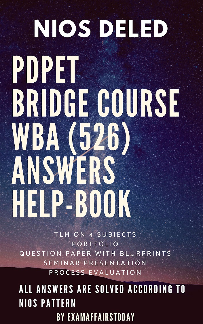 Nios Deled Bridge Course Solved Wba 526 Report And Question Paper