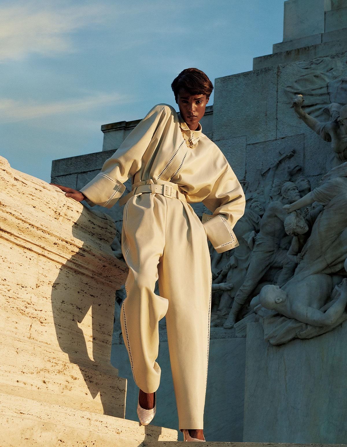 Malika Louback in Vogue Japan September 2021 by Camilla Akrans