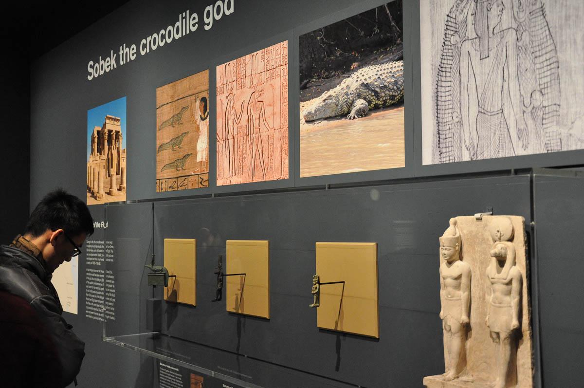 Scanning Sobek - the Crocodile God - British Museum, London, England