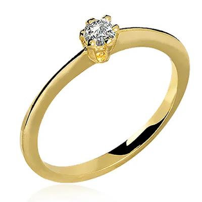 anel de noivado classico