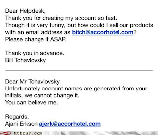 email account user id funny fail accor hotel