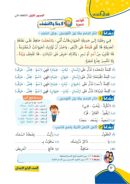 كتاب قطر الندى منهج الصف الرابع الابتدائي 2022 اللغة العربية