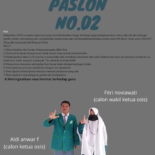 Calon Ketua dan Wakil OSIS MA Nurul Huda