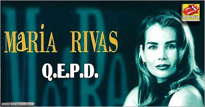 Murió la cantante venezolana María Rivas en Miami - Conocida por la canción de Mi Manduco