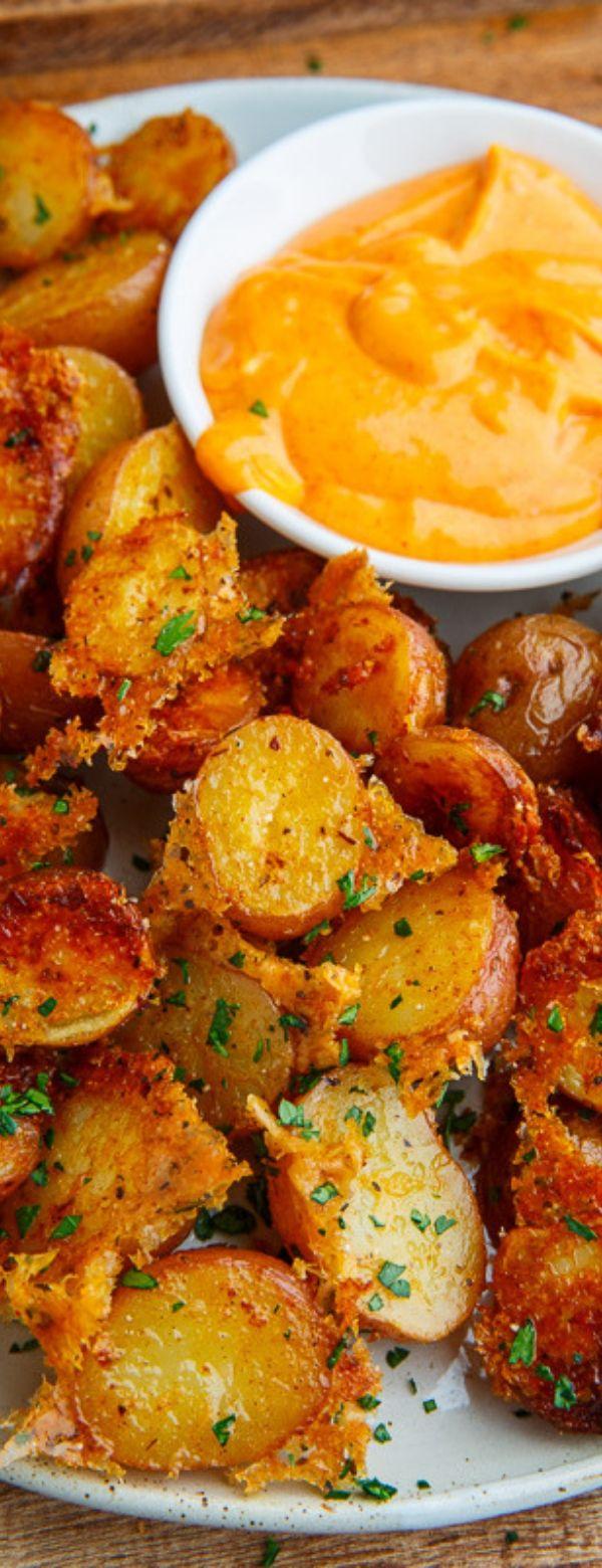 Crispy Parmesan Roast Potatoe