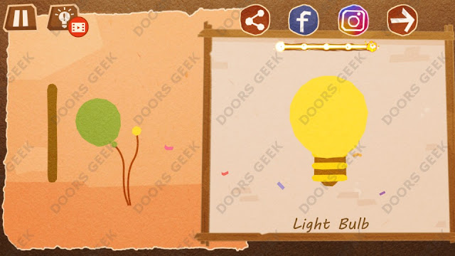 Chigiri: Paper Puzzle Novice Level 10 (Light Bulb) Solution, Walkthrough, Cheats