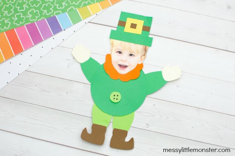St Patricks day crafts for preschoolers - leprechaun craft