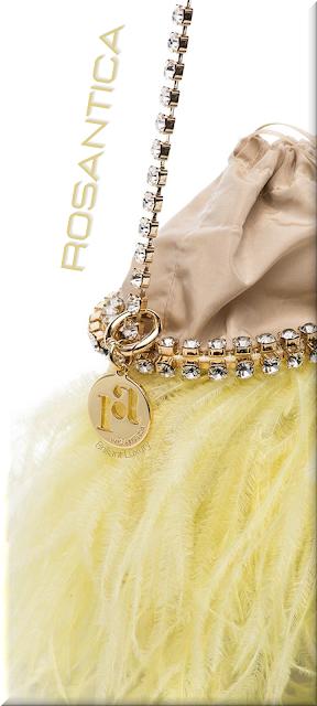 Rosantica Josephine pastel yellow feather-detail shoulder bag #bags #eveningbags #rosantica #brilliantluxury