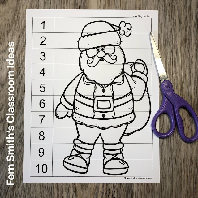 Click Here to Download these Christmas Counting Puzzles for Your Classroom Today!