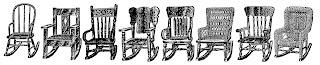 rocking chairs furniture images illustration drawings artwork