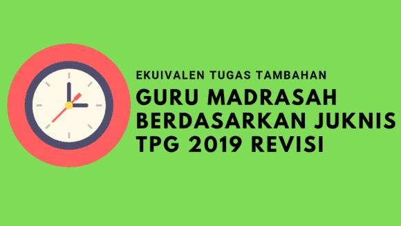 Ekuivalen Tugas Tambahan Guru Madrasah Berdasarkan Juknis TPG 2019 Revisi
