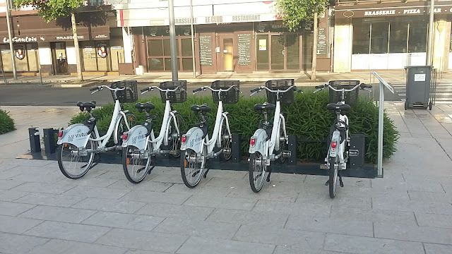 Parking des vélos en libre-service