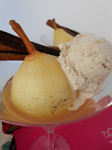 Moscato Poached Pears Dessert