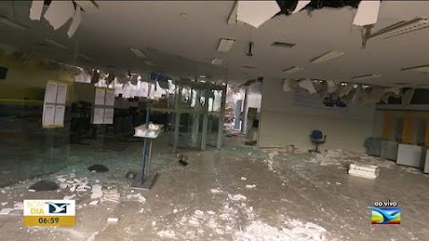 Criminosos atacam Santa Luzia e destroem agência bancária