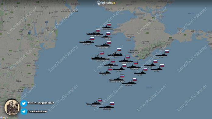 Επίδειξη δύναμης του ρωσικού ναυτικού στη Μαύρη Θάλασσα