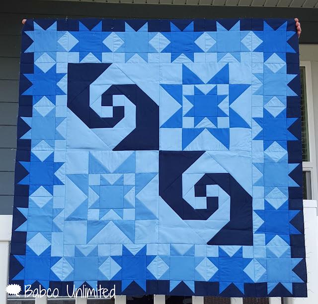 BabcoUnlimited.blogpsot.com - Mystery Quilt, Modern Quilt, Blue Quilt
