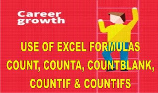 Use of Excel Static Formulas Count, Counta, Countblank, Countif and Countifs with Example