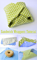 Sandwich Wrappers Bag Tutorial