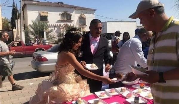 Quinceañera no pide fiesta y PREFIERE repartir comida a personas en situación de calle