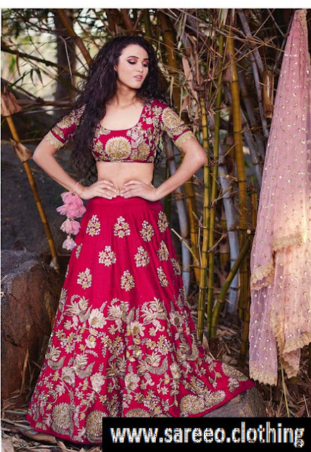 Exclusive Pink Embroidery Lehenga with Dupatta