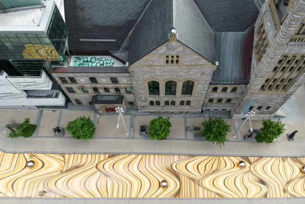 Moving Dunes | A Large-scale street painting by NÓS