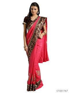 Delicate Art Silk Solid With Emboridery Border Sarees