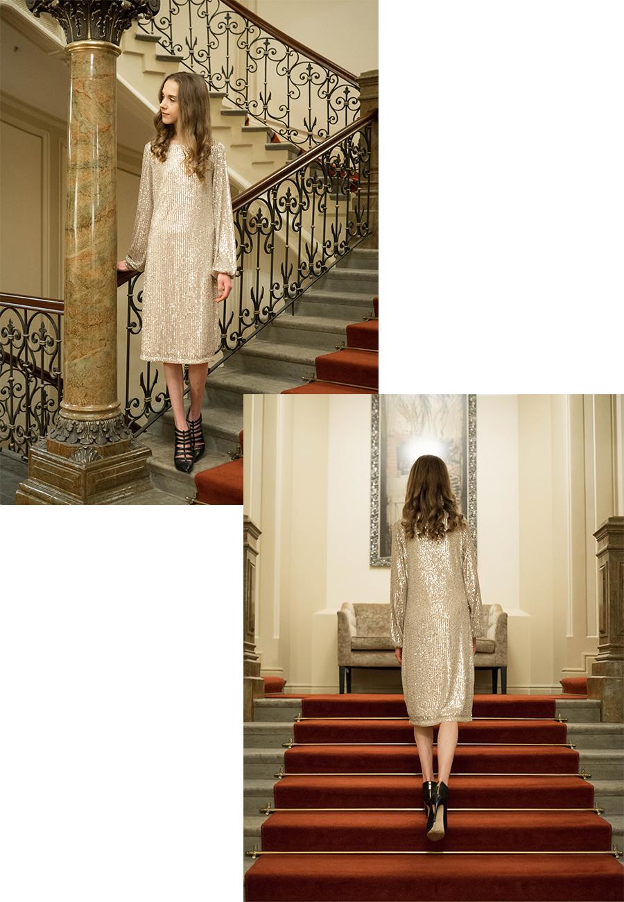 Ideoita loppuvuoden juhlapukeutumiseen: paljettimekko // Festive outfit ideas: sequin dress