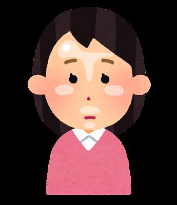顔のテカリのイラスト(女性)