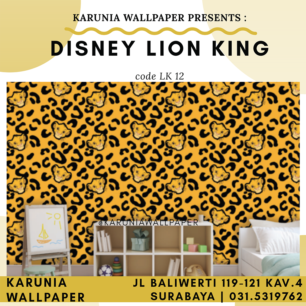 jual wallpaper dekorasi dinding lion king anak