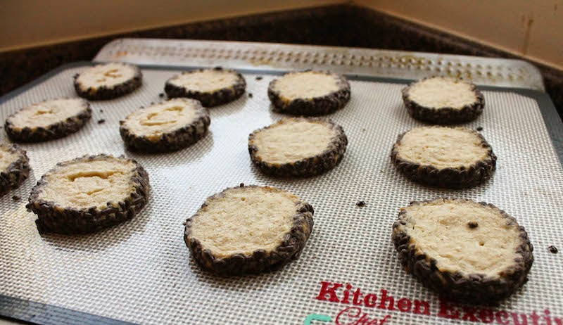 Food Lust People Love: Rich and buttery, like all shortbead cookies should be, these refrigerate-and-slice chocolate shot cookies also contain rolled oats. They are easy to make, keep well in the freezer and will be a welcome addition to your holiday cookie baking.