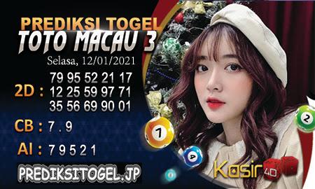 Prediksi Kasir4D Togel Macau Selasa 12 Januari 2021