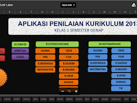 Aplikasi Penilaian Kurikulum 2013 Revisi Format Excell