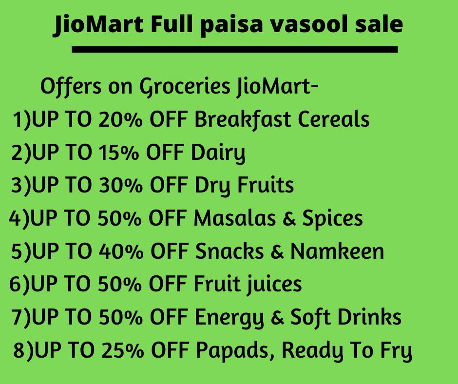 Offers on Groceries JioMart