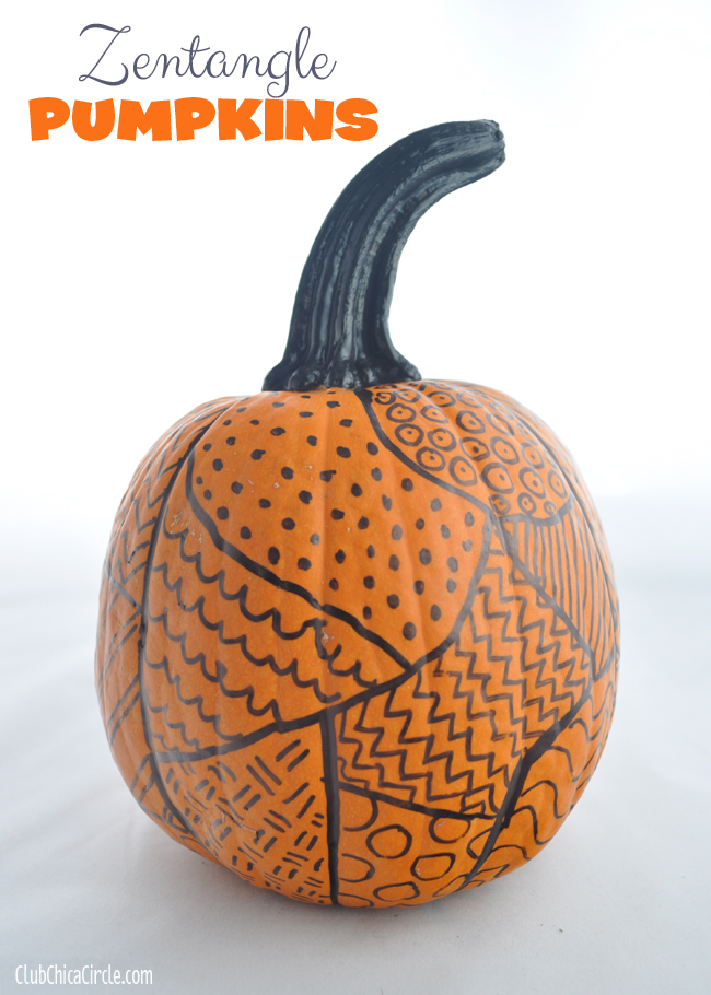 Zentangle Pumpkins from Club Chica Circle