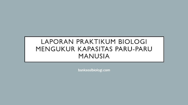 laporan praktikum biologi mengukur kapasitas paru-paru manusia