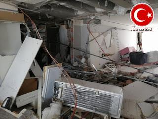 انفجار في شقة في اسنيورت اسطنبول يحولها الى انقاض