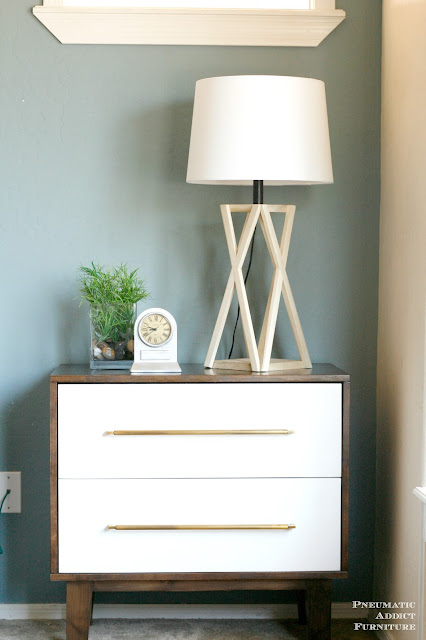 DIY tapered X table lamp