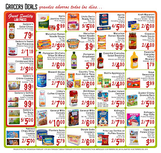 Sedanos coupons and deals