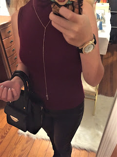 burgundy crop top ootd
