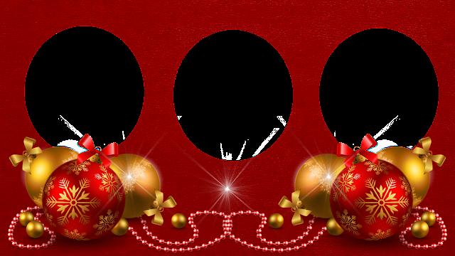 Natal -Moldura Red 50  e bolas mais luz- 3 fotos