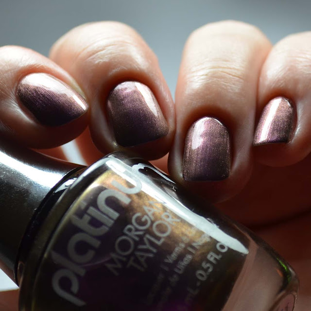 purple duo chrome nail polish