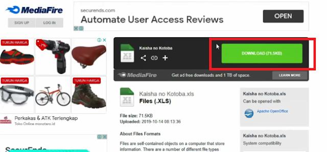 Cara Download di Safelinku Fujiharu.com