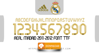 Font Real Madrid 2011-2012