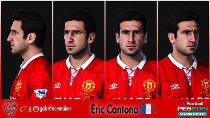 Eric Cantona Face For eFootball PES 2021