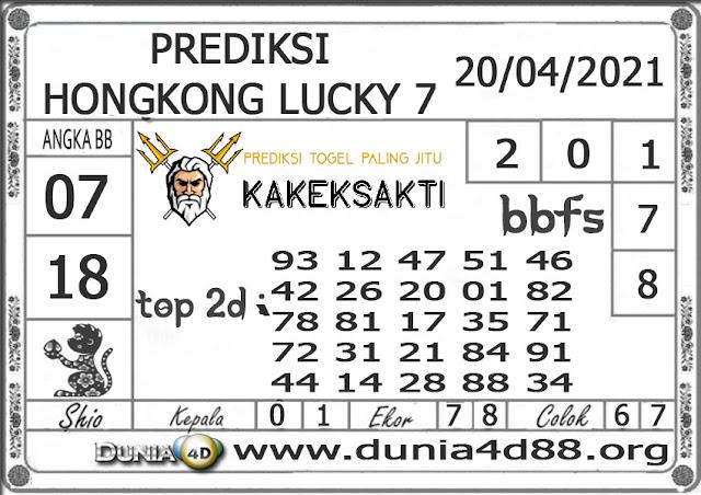 Prediksi Togel HONGKONG LUCKY 7 DUNIA4D 20 APRIL 2021