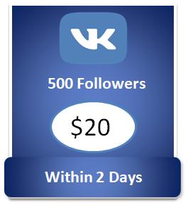 500 buy Vkontakte Followers